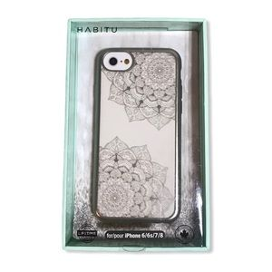 2/$30 🗝 iPhone 6/6s/7/8 silver mandala hard case